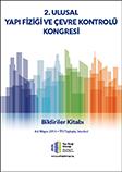 2. Ulusal Yapı Fiziği ve Çevre Kontrolü Bildiriler Kitabı