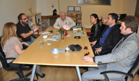 Mason Industries'in CEO'su Norm Mason, yayın grubumuzu ziyaret etti